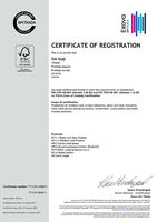 CHAIN OF CUSTODY CERTIFICATE